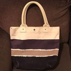 J Crew striped canvas bag